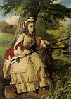 William Maw Egley A Young Lady Fishing painting