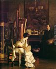 William McGregor Paxton In the Studio painting