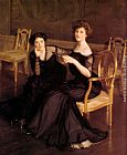 William McGregor Paxton The Sisters painting