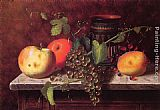 William Michael Harnett Still Life with Fruit and Vase painting