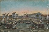 William P. Chappel Old Ferry Stairs painting