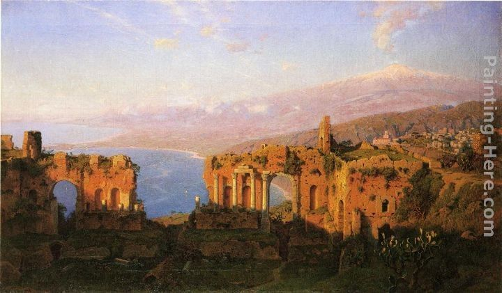 William Stanley Haseltine Ruins of the Roman Theatre at Taormina, Sicily