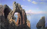 William Stanley Haseltine Natural Arch, Capri painting