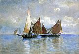 William Stanley Haseltine Venetian Fishing Boats painting