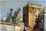 William Stanley Haseltine View from the Alhambra, Spain painting