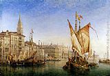 William Wilde The Doge's Palace From The Entrance To The Grand Canal painting