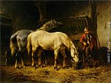 Wouter Verschuur Feeding the Horses painting