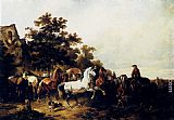 Wouter Verschuur The Horse Fair painting