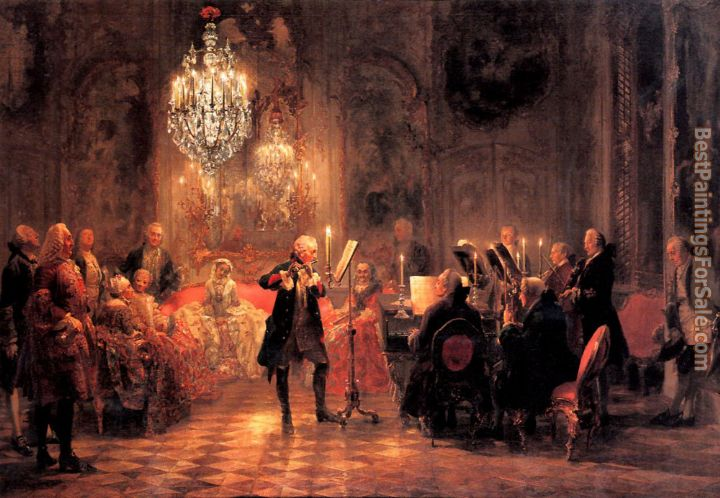 Adolph von Menzel Paintings for sale