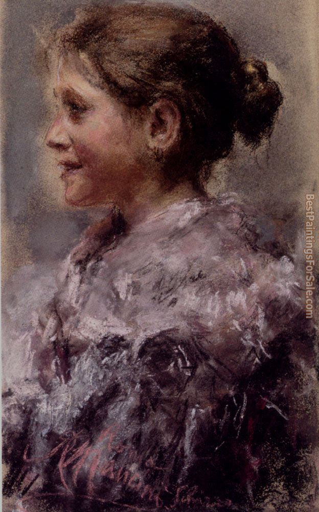 Antonio Mancini Paintings for sale
