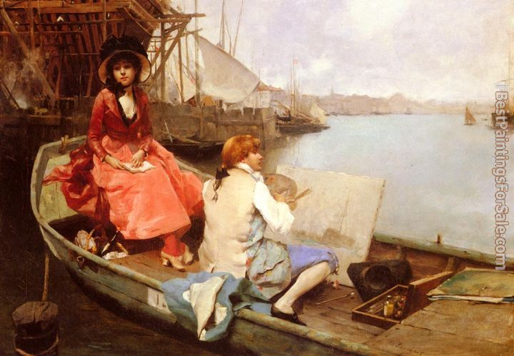 Auguste Emile Pinchart Paintings for sale