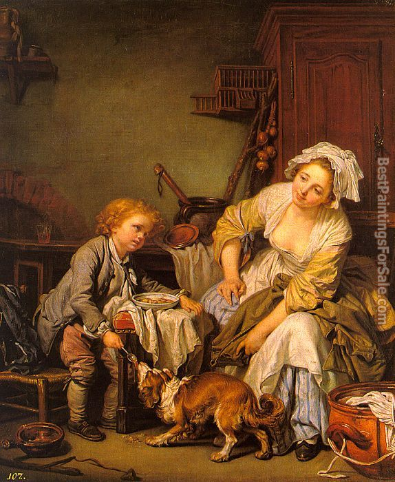 Jean Baptiste Greuze Paintings for sale