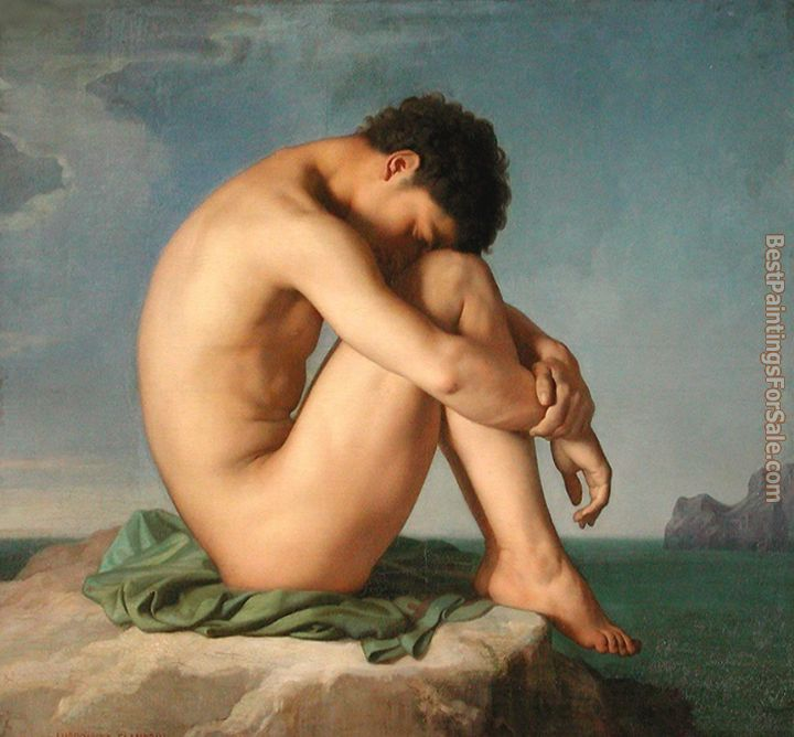 Jean Hippolyte Flandrin Paintings for sale