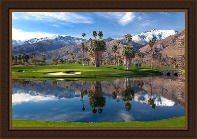 Framed 2012 indian canyon golf pictures painting