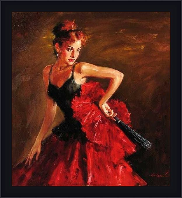 Framed Andrew Atroshenko what a wonderful life painting