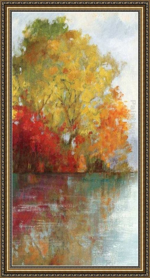 Framed Asia Jensen forest reflection ii painting