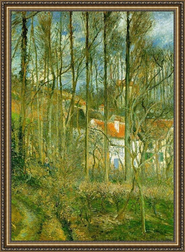 Framed Camille Pissarro la cote des boeufs the hermitage painting