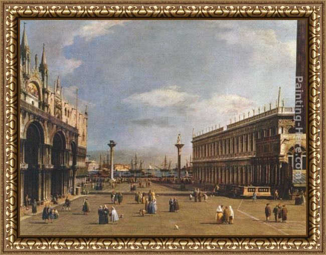 Framed Canaletto the piazzetta painting