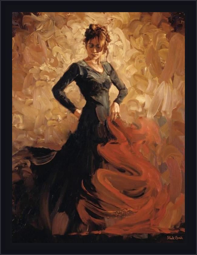 Framed Flamenco Dancer flamenco ii painting