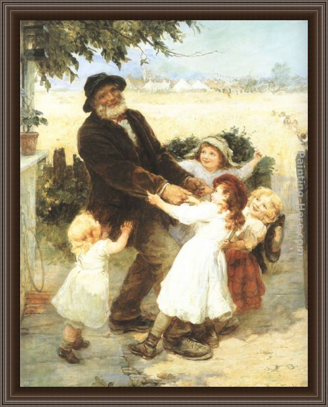 Framed Frederick Morgan off to the fair painting