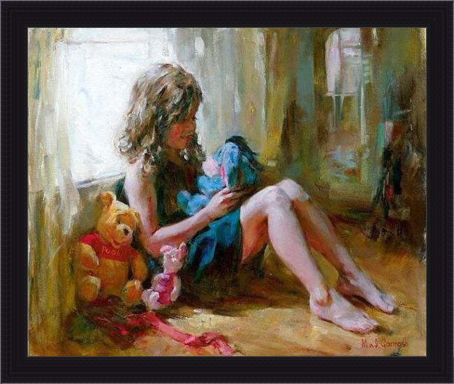 Framed Garmash among friends painting