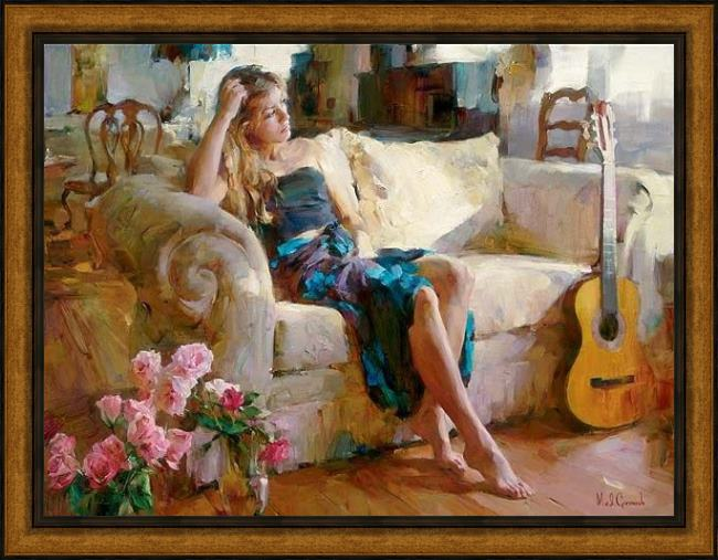 Framed Garmash music in the afternoon painting