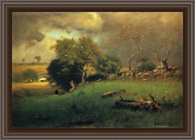 Framed George Inness the storm painting