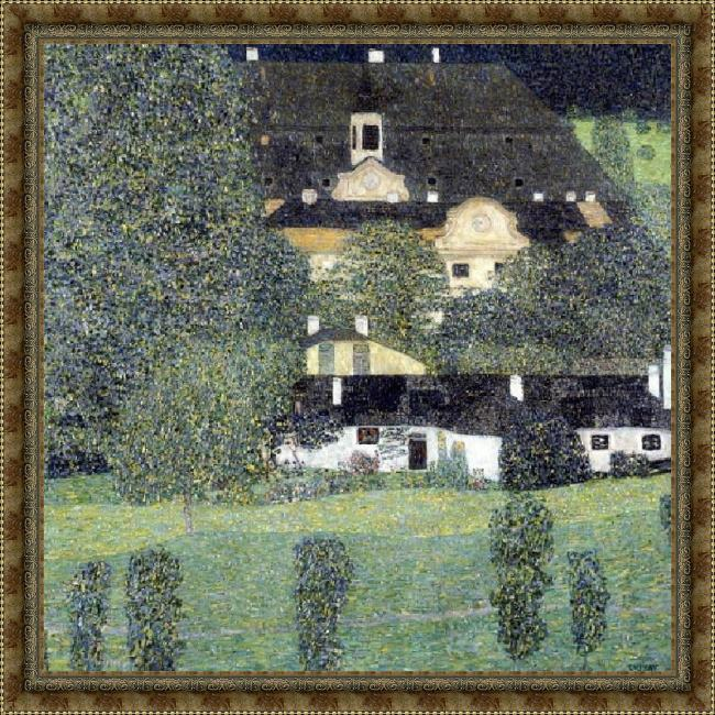 Framed Gustav Klimt schloss kammer am attersee ii painting