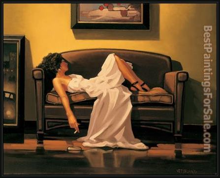 Framed Jack Vettriano after the thrill is gone painting