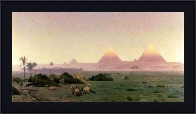 Framed Jean-Leon Gerome the first kiss of sunlight painting
