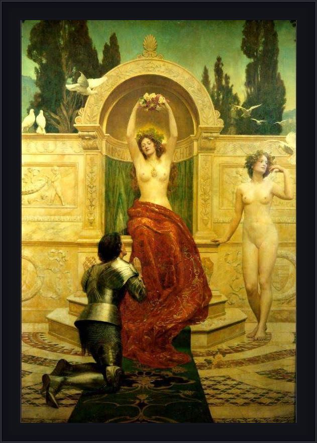 Framed John Collier in the venusberg tannhauser painting