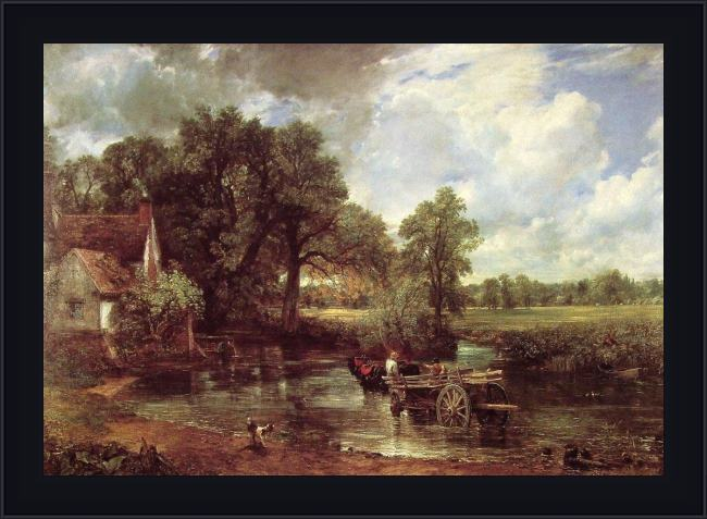 Framed John Constable the haywain 1821 painting