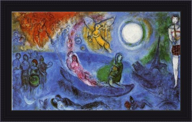 Framed Marc Chagall the concert painting