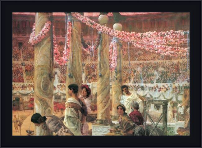 Framed Sir Lawrence Alma-Tadema caracalla and geta painting
