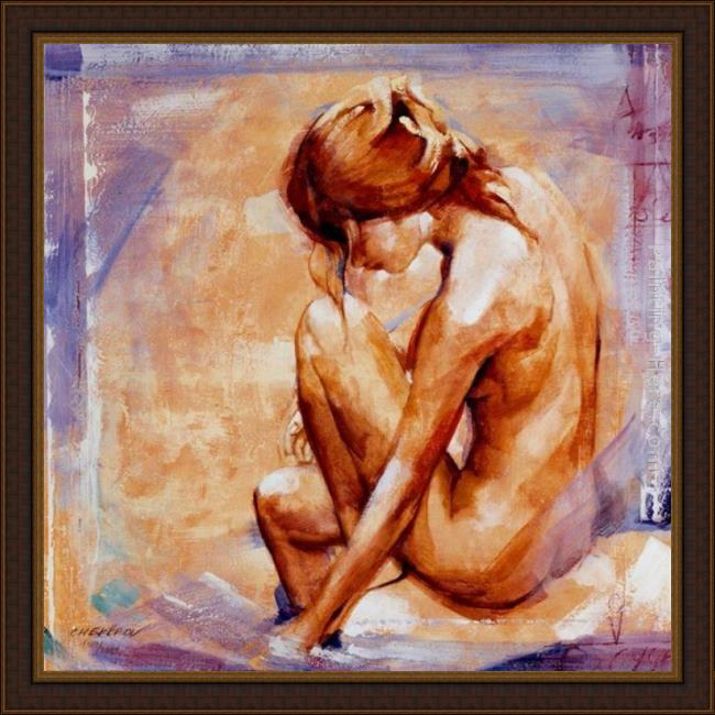 Framed Talantbek Chekirov wandering thoughts painting
