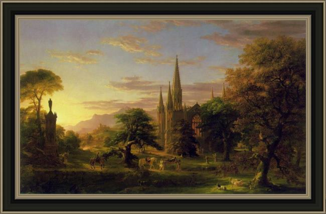 Framed Thomas Cole the return painting