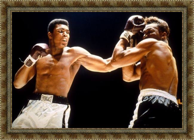 Framed Unknown Artist muhammad ali boxing fights painting