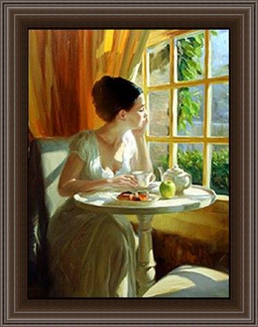 Framed Vladimir Volegov sunny breakfast painting