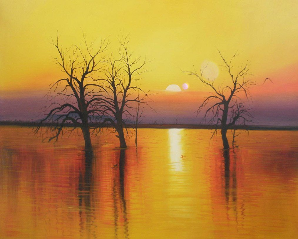 2010 Sunset trees & water