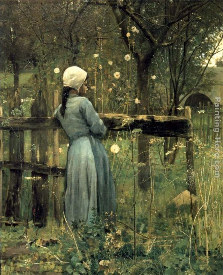 2011 A Girl in A Meadow by William Stott
