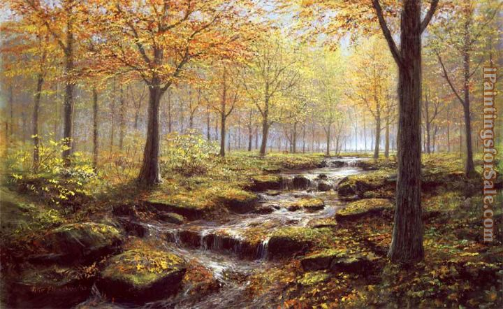 2012 Autumn Gold Rush Landscape by Peter Ellenshaw