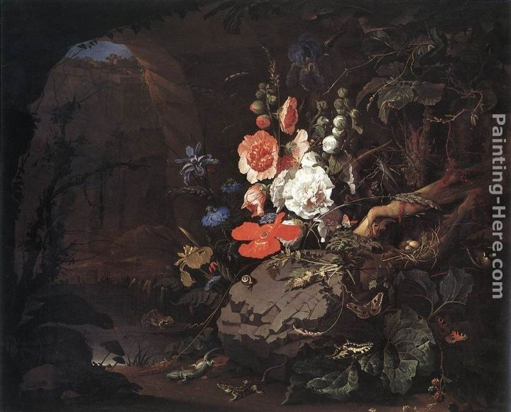 Abraham Mignon The Nature as a Symbol of Vanitas