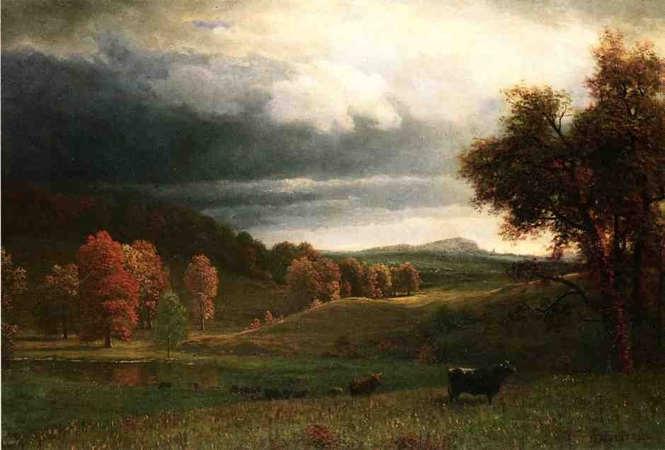 Albert Bierstadt Autumn Landscape The Catskills