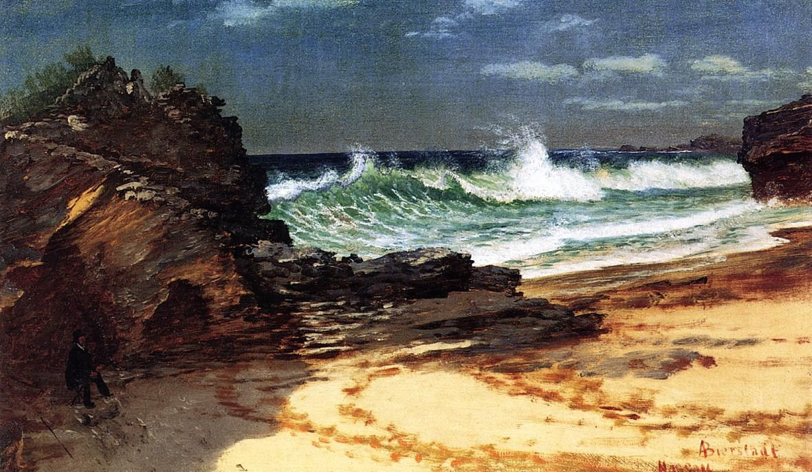 Albert Bierstadt Beach at Nassau
