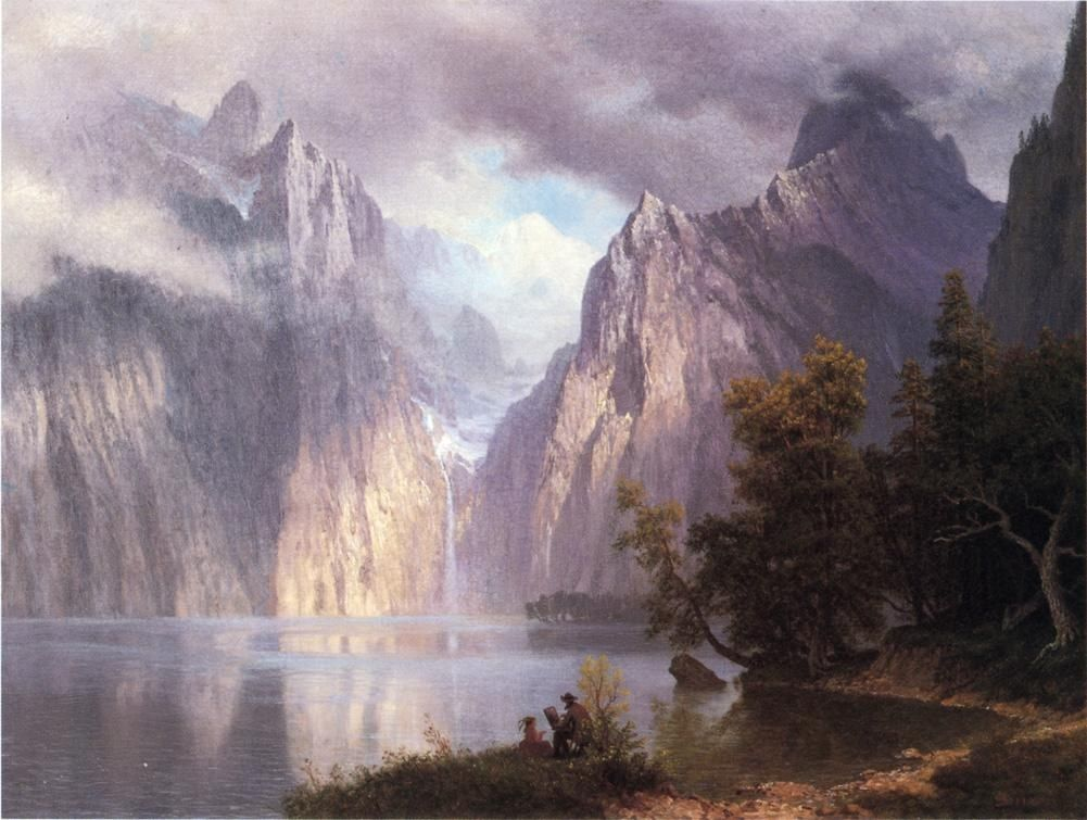 Albert Bierstadt Scene in the Sierra Nevada