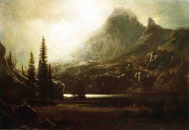 Albert Bierstadt By a Mountain Lake