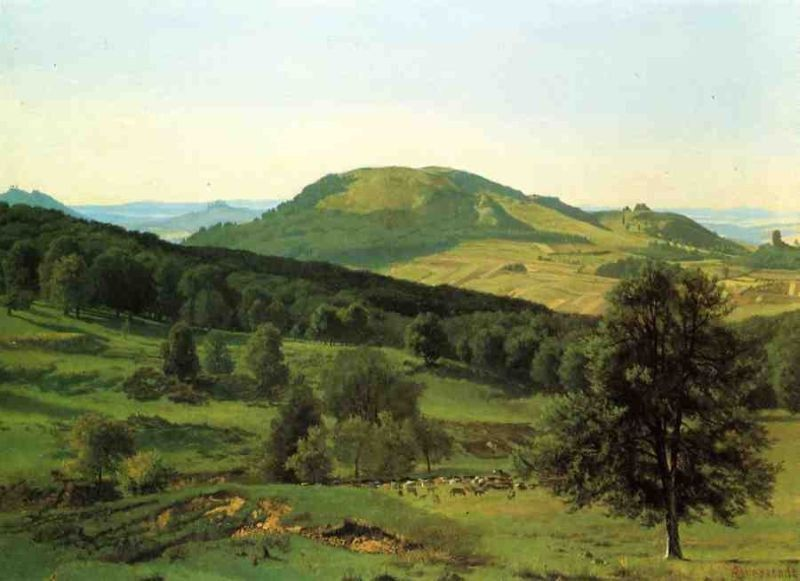 Albert Bierstadt Hill and Dale