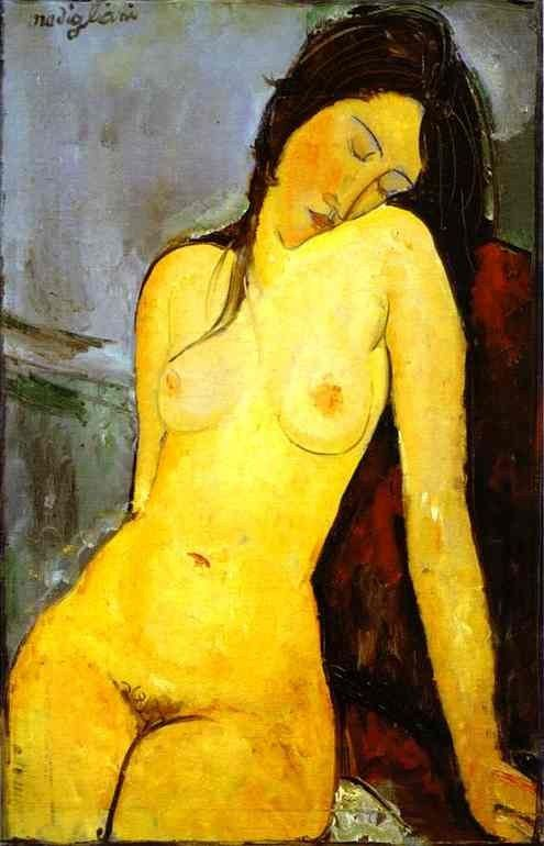Amedeo Modigliani the Seated Nude