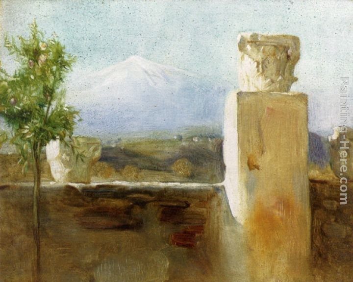 Arthur Hacker Mount Etna From Taormina