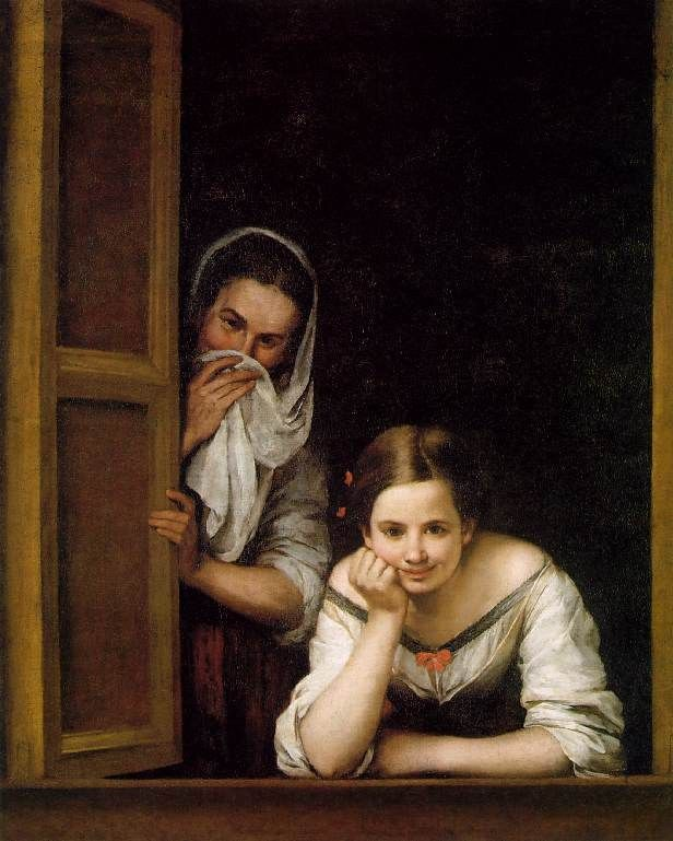 Bartolome Esteban Murillo A Girl and her Duenna
